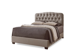 Baxton Studio Romeo Contemporary Espresso Button-Tufted  Upholstered Bed - King Brown   Bedroom Furniture//Modern Bed/Brown/King/Fabric Bed