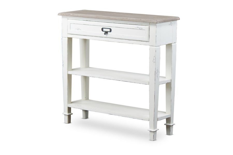 Baxton Studio Dauphine Traditional French Accent Console Table 1 Drawer