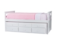 Baxton Studio Ballina White Wood Contemporary Twin-Size Trundle Bed Affordable modern furniture in Chicago,Ballina White Wood Contemporary Twin-Size Trundle Bed, Bedroom Furniture Chicago