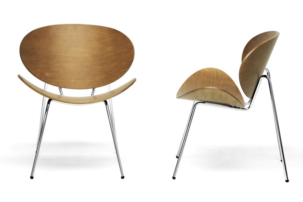 Baxton studio reaves walnut effect mid century modern - Walnut effect living room furniture ...