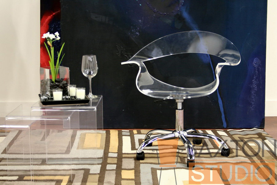 elia acrylic swivel office chair acrylic office chair