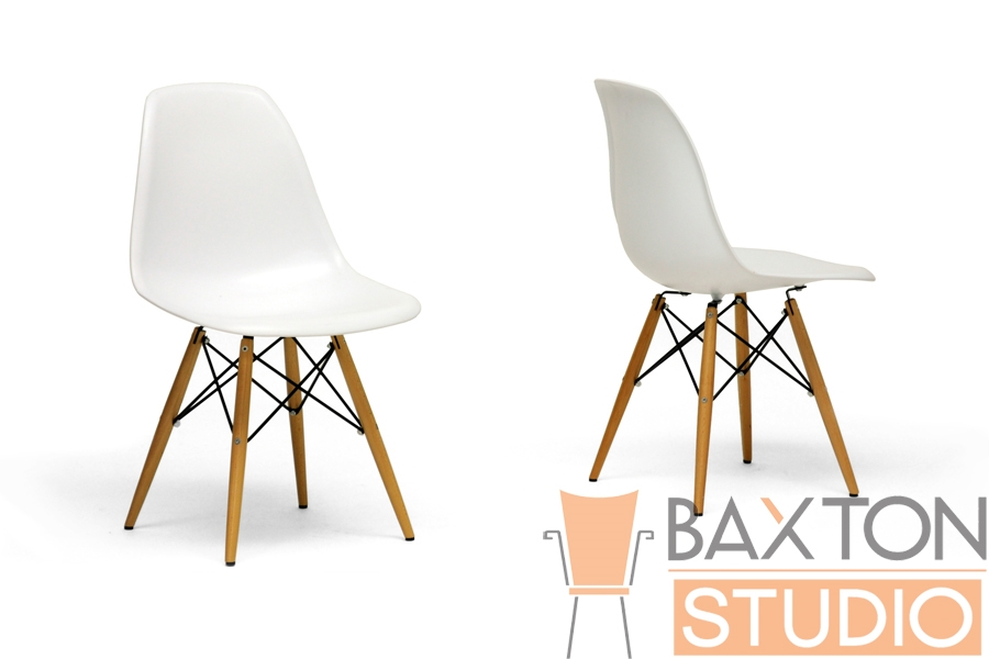 Azzo White Plastic Accent Chair With Metal Support Wood Leg | Affordable  Modern Furniture In Chicago