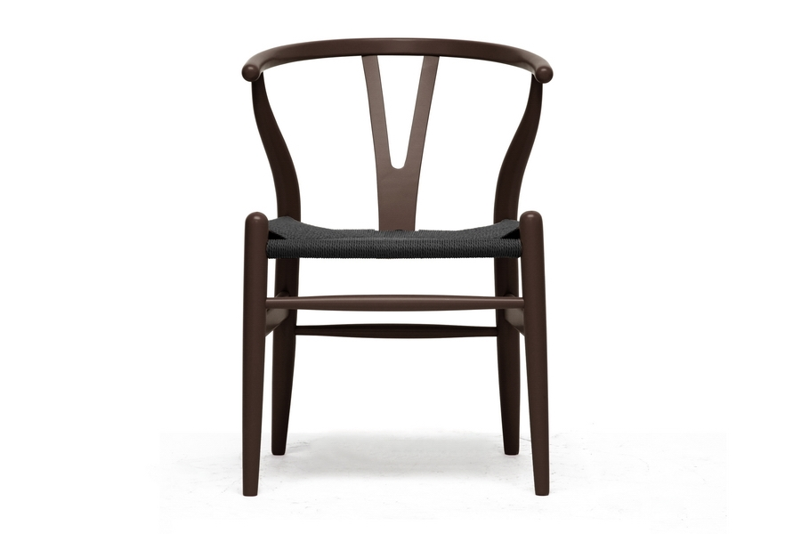 Baxton Studio Wishbone Chair Brown Wood Y Chair With