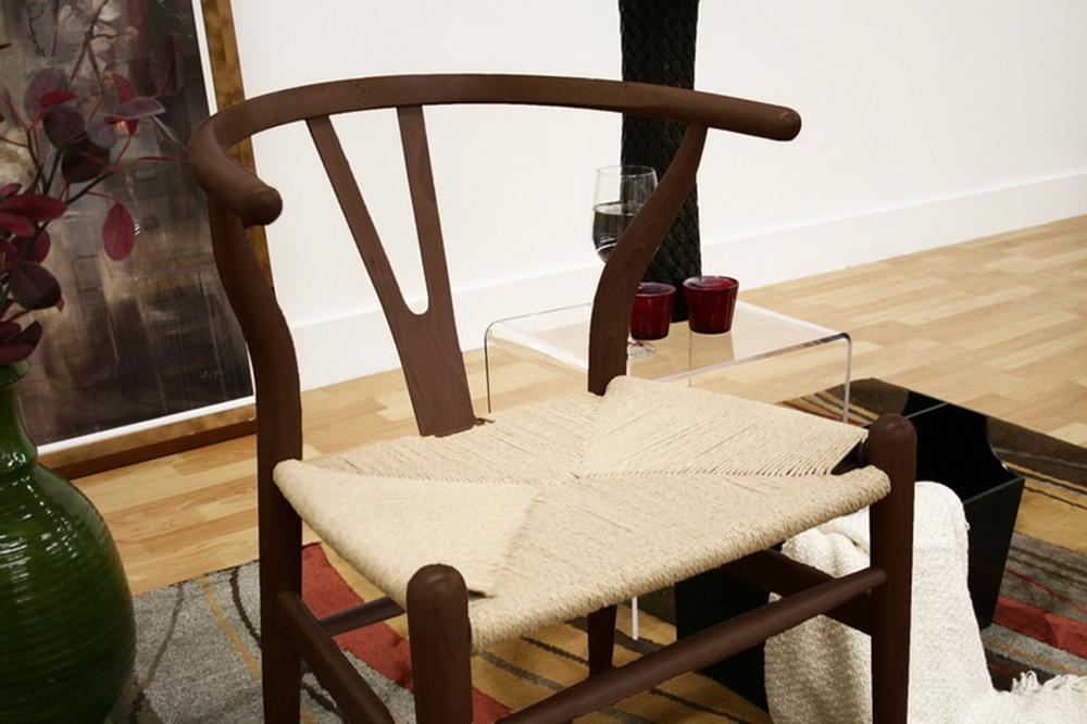 Wishbone Chair Dark Brown Wood Y Chair Affordable