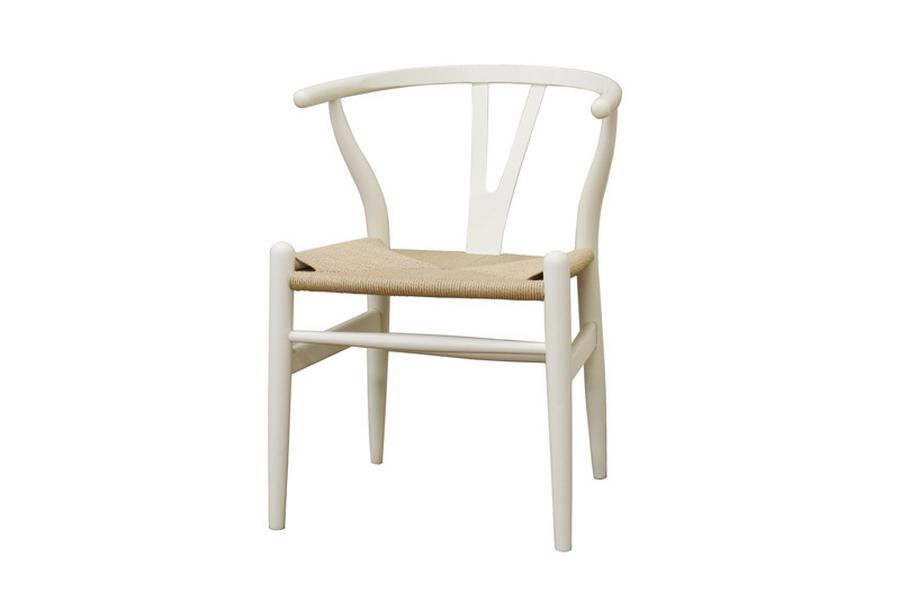 baxton studio wishbone chair ivory wood y chair - Wishbone Chair