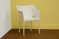Baxton Studio White Stackable Molded Plastic Arm Chair (Set of 2)