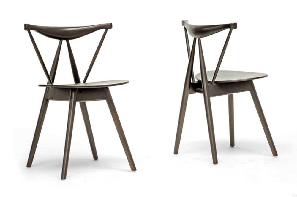 Baxton Studio Mercer Brown Wood Modern Dining Chair Affordable Modern Furniture In Chicago