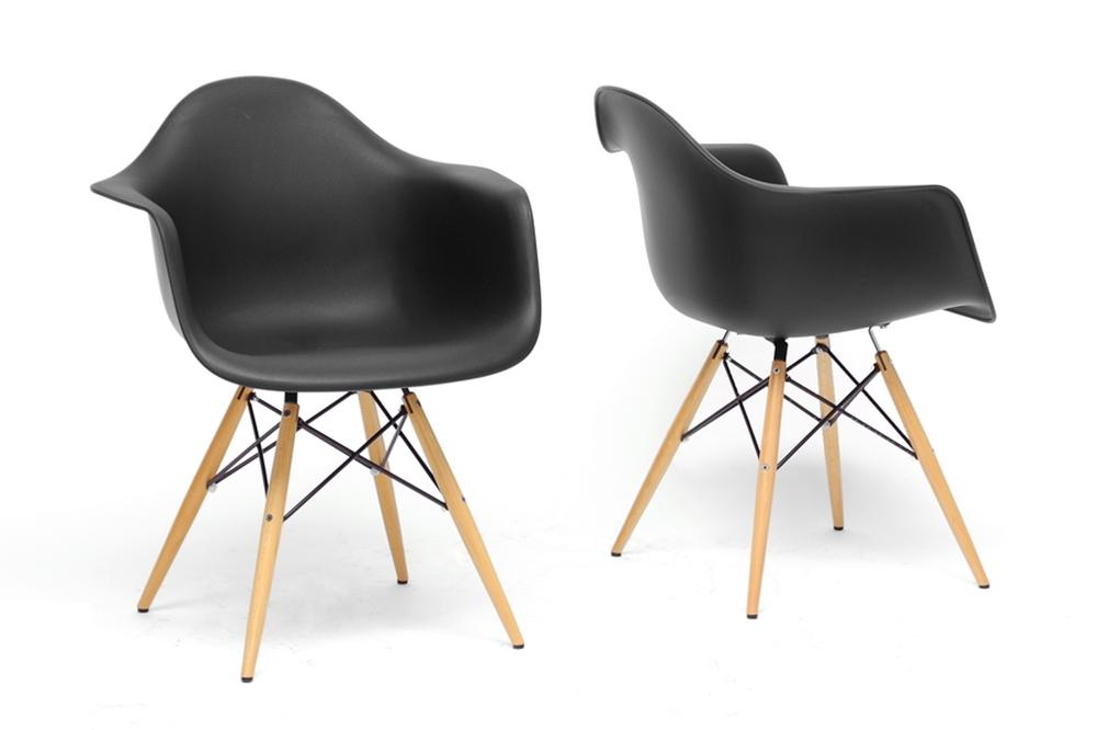 Baxton studio pascal black plastic mid century modern for Cheap mid century modern furniture