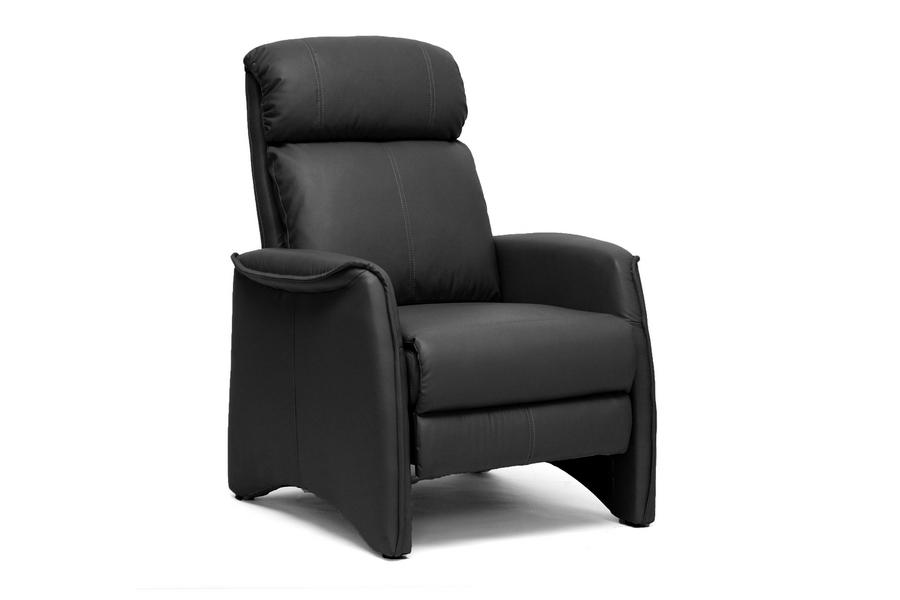 Baxton Studio Aberfeld Black Modern Recliner Club Chair
