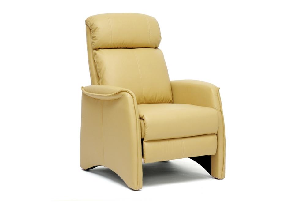 baxton studio aberfeld tan modern recliner club chair
