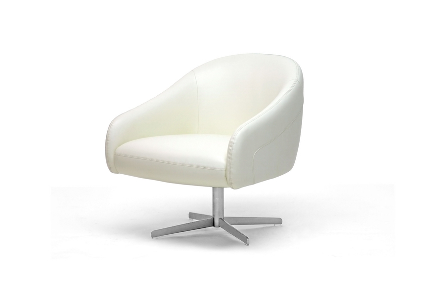 balmorale ivory leather modern swivel chair affordable