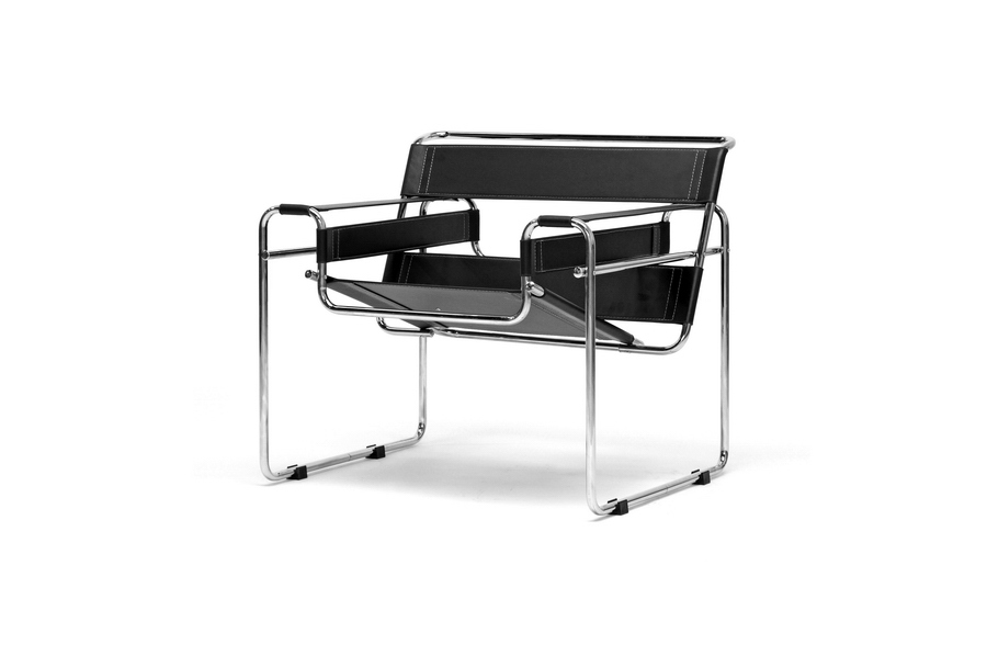 Black Bonded Leather Wassily Chair | Affordable Modern Furniture ...