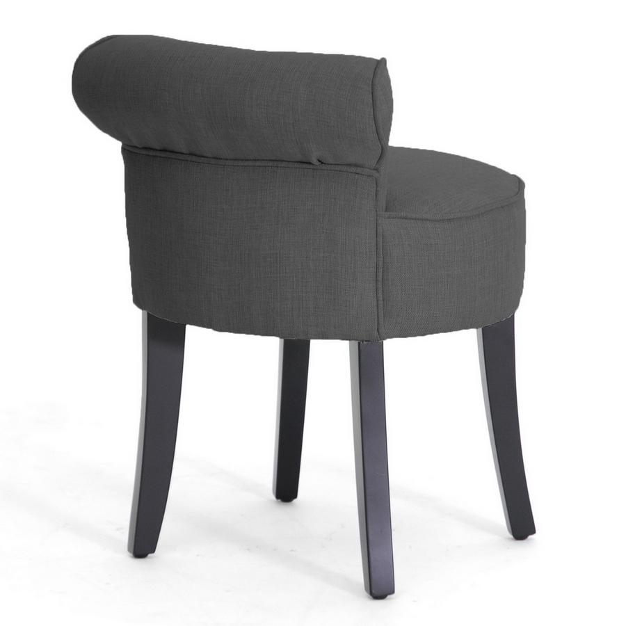 Millani Gray Linen Modern Lounge Stool : Affordable Modern ...