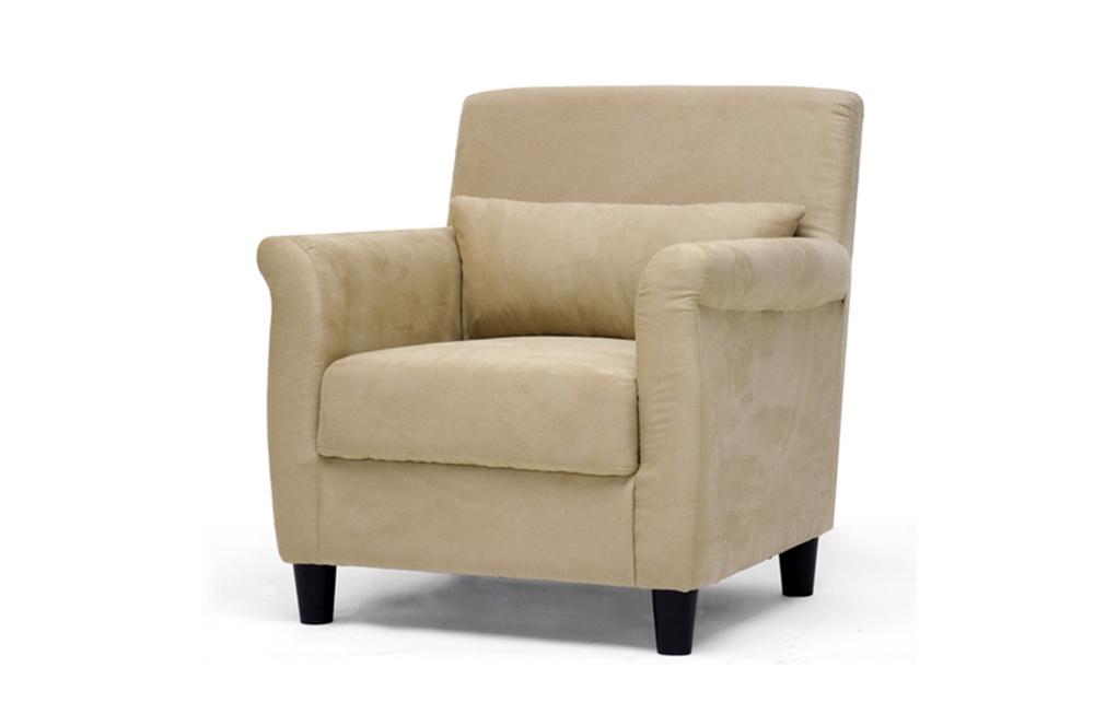 Marquis Tan Microfiber Club Chair Affordable Modern