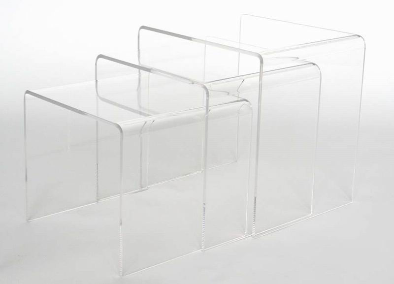 Acrylic nesting table 3 pc table set display stands clear or black baxton studio acrylic nesting table 3 pc table set display stands clear or black watchthetrailerfo