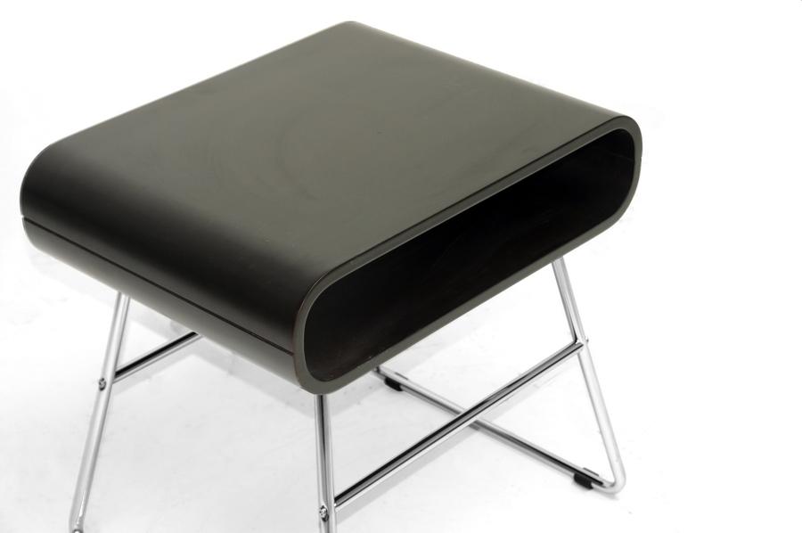 baxton studio ramsey dark brown midcentury modern end table