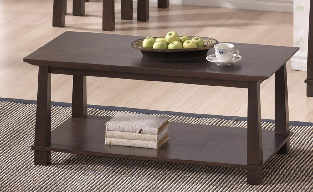 Havana Brown Wood Modern Coffee Table Affordable Modern Furniture In Chicago