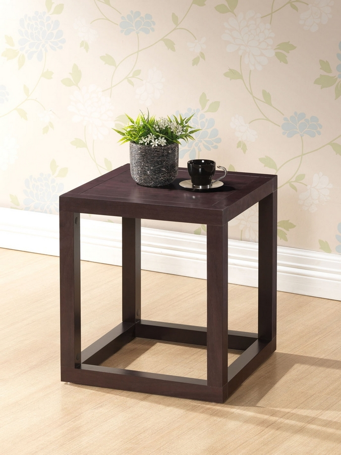 Baxton Studio Hallis Brown Modern Accent Table And