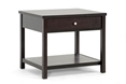 Baxton Studio Nashua Brown Modern Accent Table and Nightstand Affordable modern furniture in Chicago, Baxton Studio Nashua Brown Modern Accent Table and Nightstand - $59,  Living Room Furniture  Chicago
