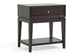 Baxton Studio Morgan Brown Modern Accent Table and Nightstand Affordable modern furniture in Chicago, Baxton Studio Morgan Brown Modern Accent Table and Nightstand - $76,  Living Room Furniture  Chicago