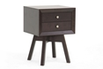 Baxton Studio Warwick Brown Modern Accent Table and Nightstand Affordable modern furniture in Chicago, Baxton Studio Warwick Brown Modern Accent Table and Nightstand - $56,  Living Room Furniture  Chicago