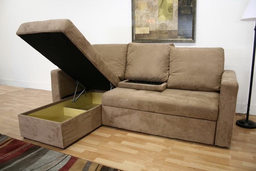 baxton studio linden tan microfiber convertible sectional sofa bed lfc bsolan121