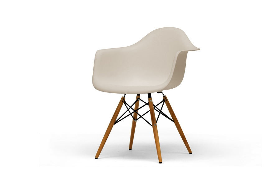 Baxton Studio Pascal Beige Plastic Mid Century Modern Shell Chair (Set Of  2) | Affordable Modern Furniture In Chicago