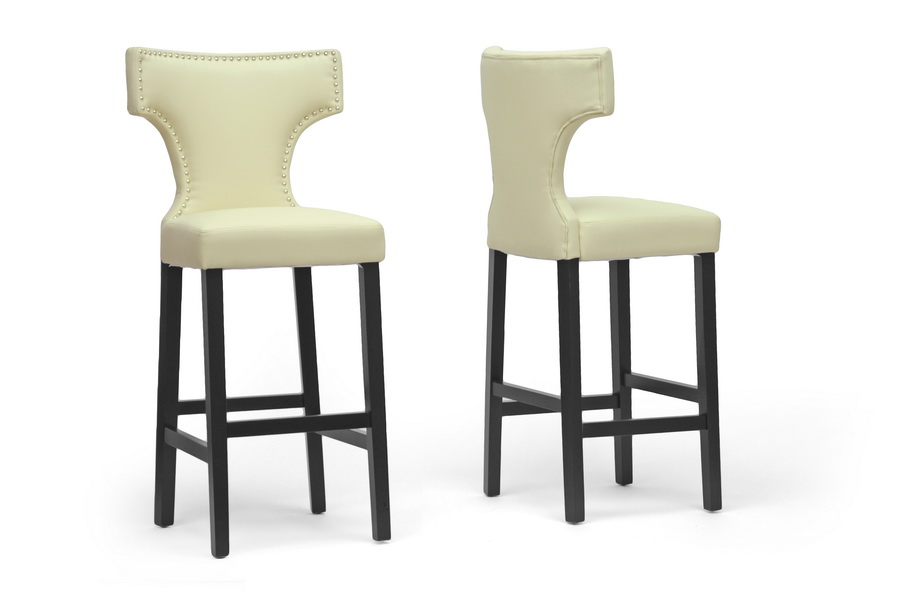 Hafley Beige Modern Bar Stool Affordable Modern Furniture In Chicago