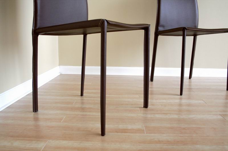 Rockford Brown Leather Dining Chair Affordable Modern