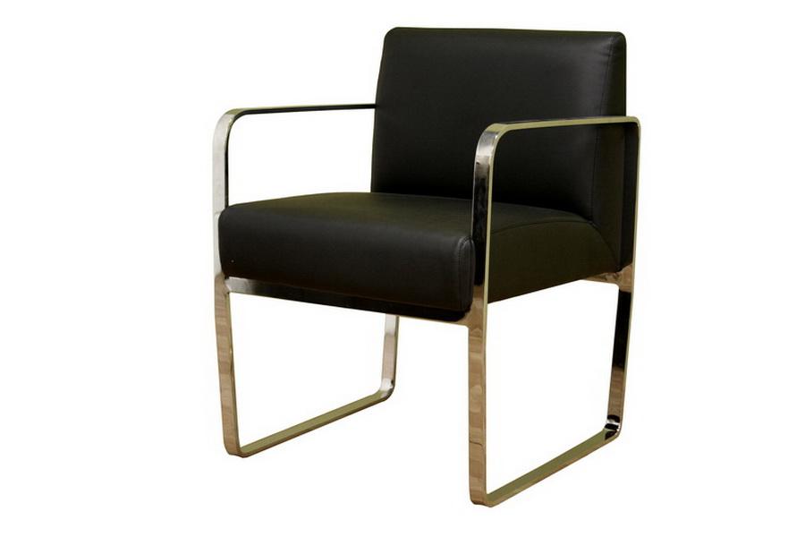Meg Black Leather Chair