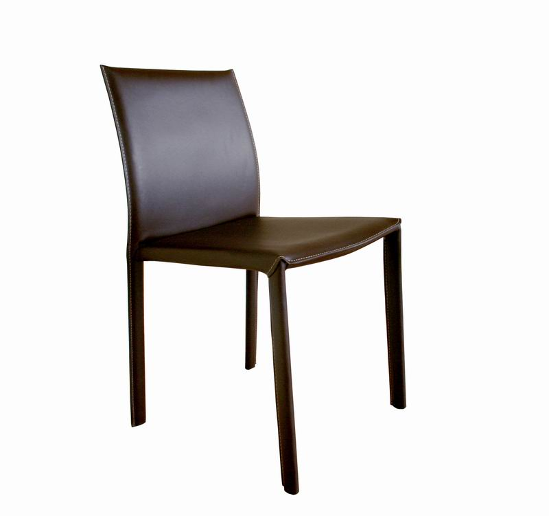 Dining Chairs Chicago: Brown Burridge Leather Dining Chair