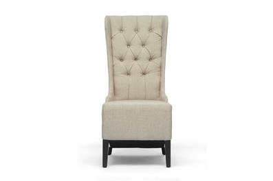 Vincent Beige Linen Modern Accent Chair Affordable