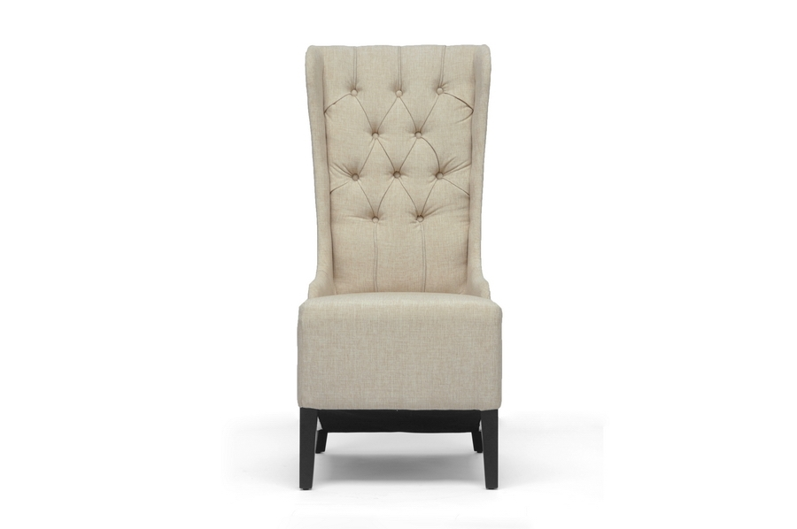 Baxton Studio Vincent Beige Linen Modern Accent Chair affordable modern furniture in Chicago,Vincent Beige Linen Modern Accent Chair,  Dining Room Furniture