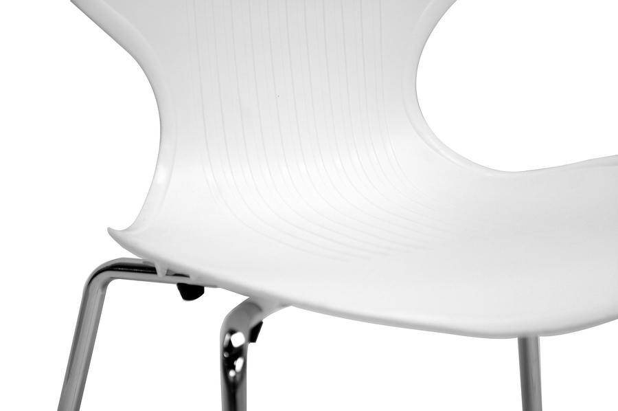 ... Baxton Studio Boujan White Plastic Modern Dining Chair (Set Of 2)    BSODC