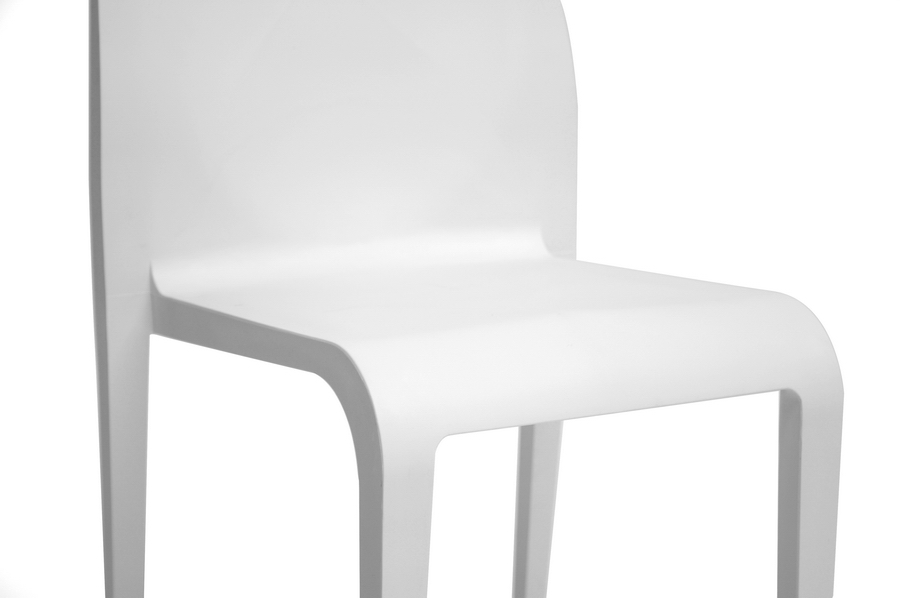 Molded Plastic Dining Chairs baxton studio blanche modern white molded plastic dining chair