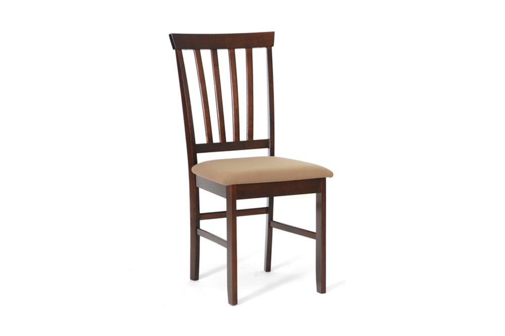 Baxton studio tiffany brown wood modern dining chair for Affordable modern dining sets