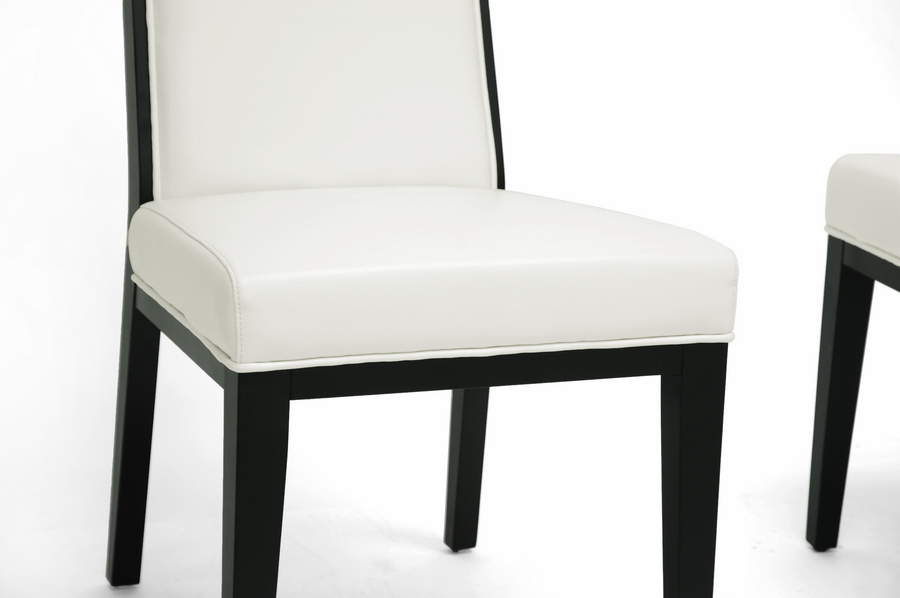 and cream leather modern dining chair set of 2 bsoy 976 du8143 2