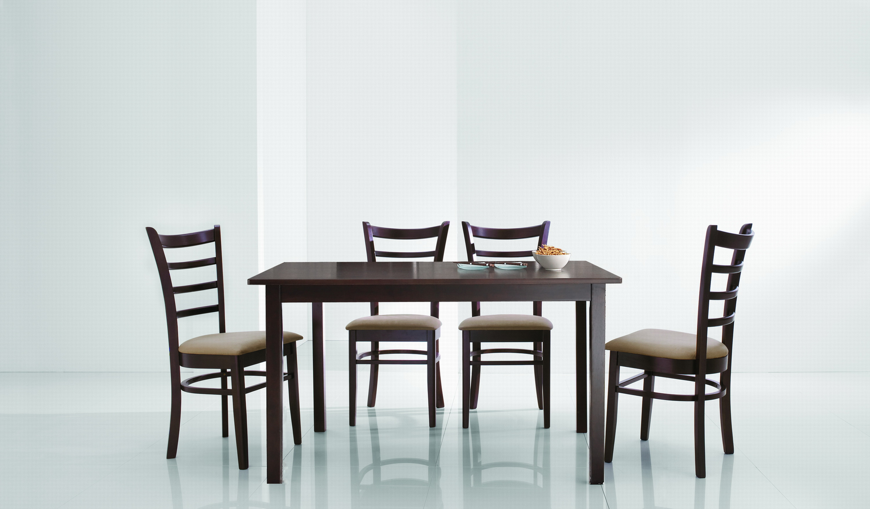 Lanark Dark Brown 5 Piece Modern Dinette Set: Affordable ...