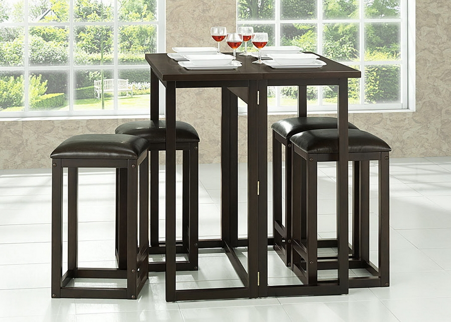 ... Baxton Studio Leeds Brown Wood Collapsible Pub Table Set    BSORT174 175 OCC ...