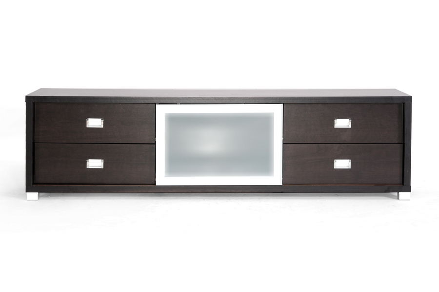 Botticelli Brown Modern TV Stand with Frosted Glass Door ...