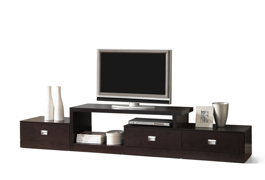 Modern Furniture Tv Stands marconi brown asymmetrical modern tv stand | affordable modern