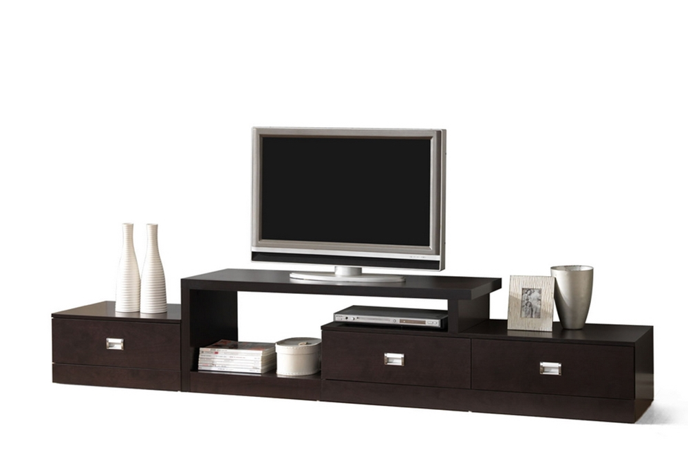 Marconi Brown Asymmetrical Modern Tv Stand Affordable