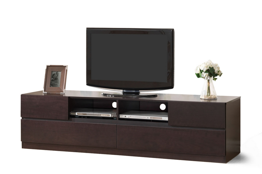 ... Baxton Studio Lovato Dark Brown Modern TV Stand   BSOFTV 4126 ...