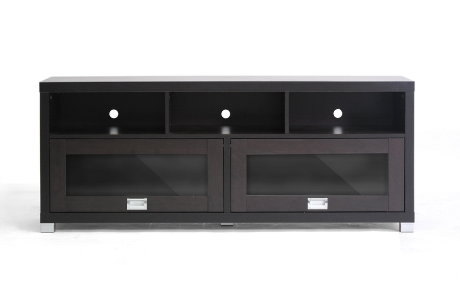 Swindon Modern TV Stand With Glass Doors | Affordable Modern Furniture In  Chicago