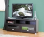 Baxton Studio Swindon Modern TV Stand with Glass Doors - BSOFTV-885