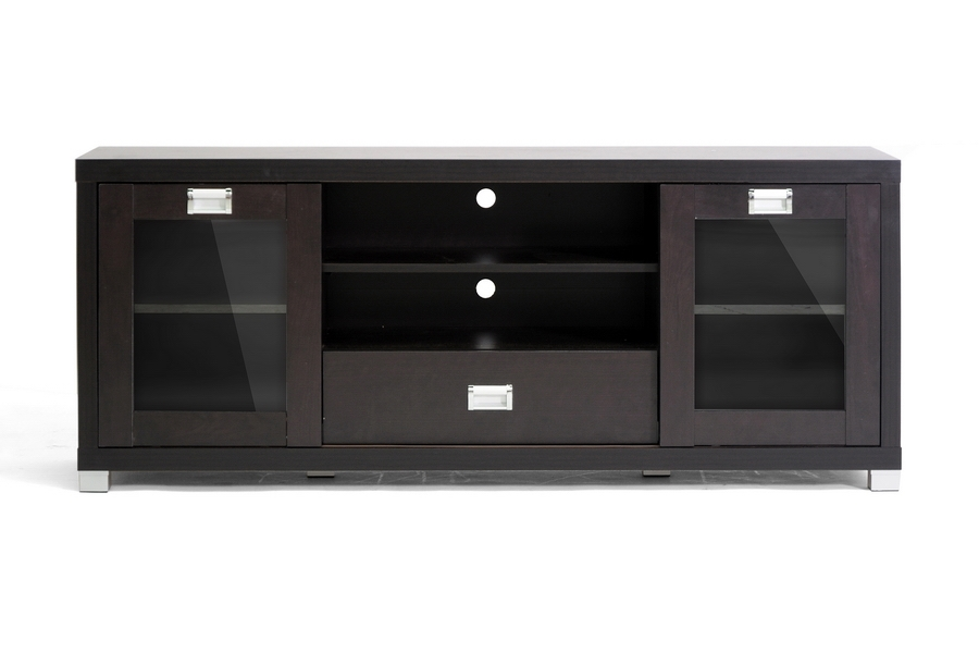 Matlock Modern Tv Stand With Glass Doors Affordable Modern