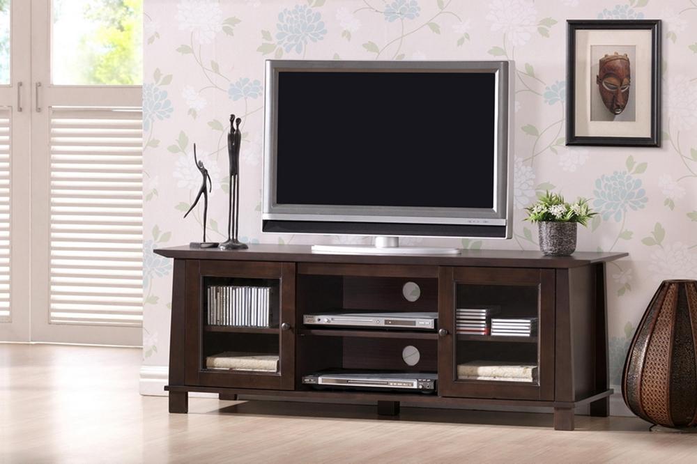 Havana Brown Wood Modern TV Stand Plasma