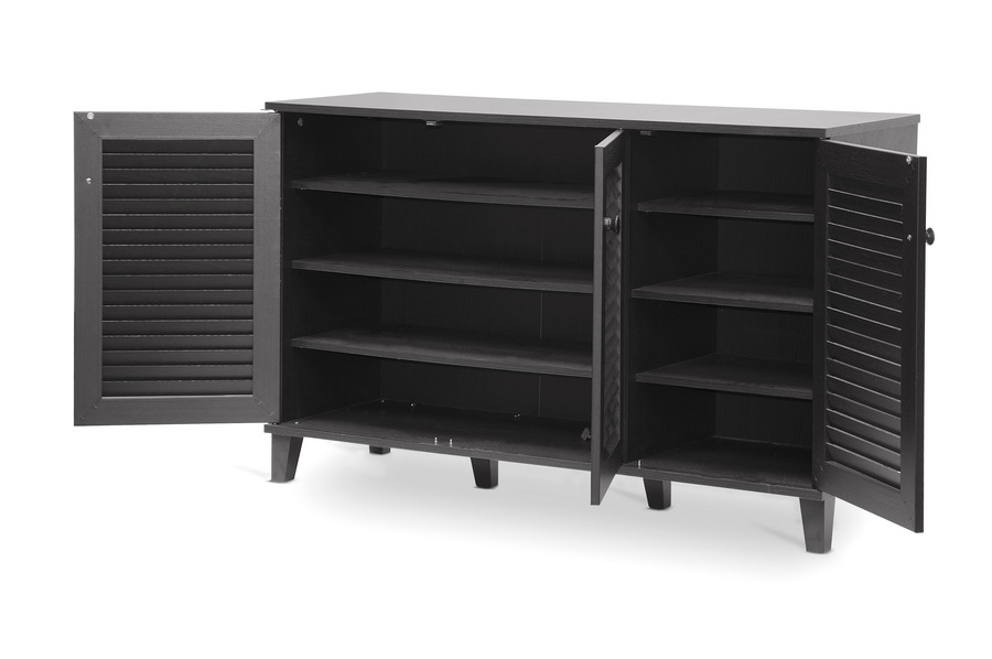 Baxton Studio Warren Espresso Shoe-Storage Cabinet | Affordable ...