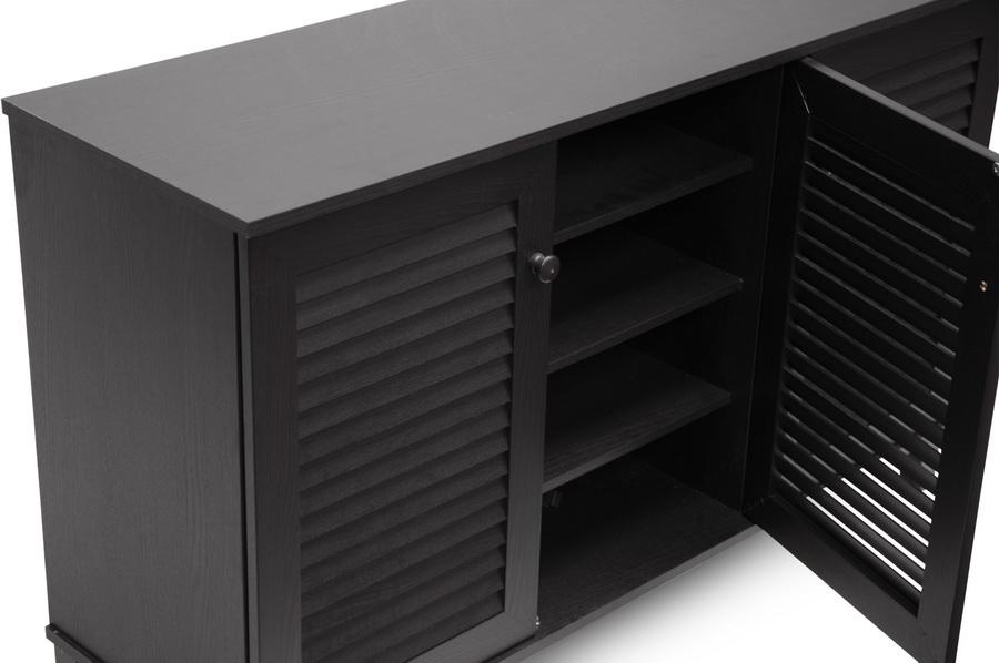 Baxton Studio Warren Espresso Shoe-Storage Cabinet | Affordable ...