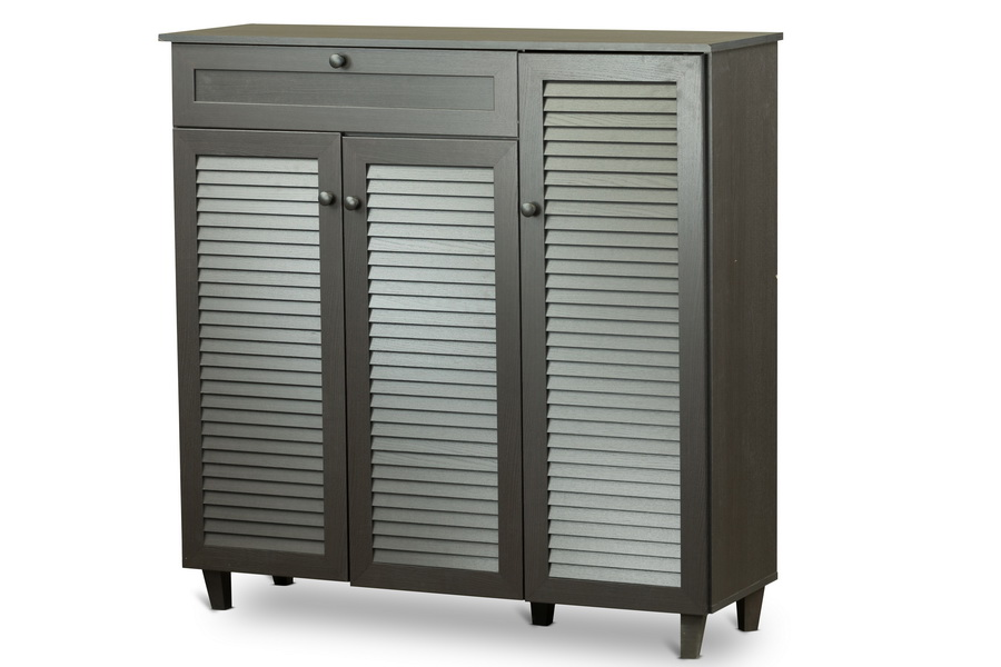 Baxton Studiopocillo Wood Shoe Storage Cabinet Affordable Modern Furniture In Chicago